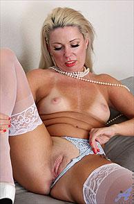 Naughty Milf Flashing Her Tan Lines